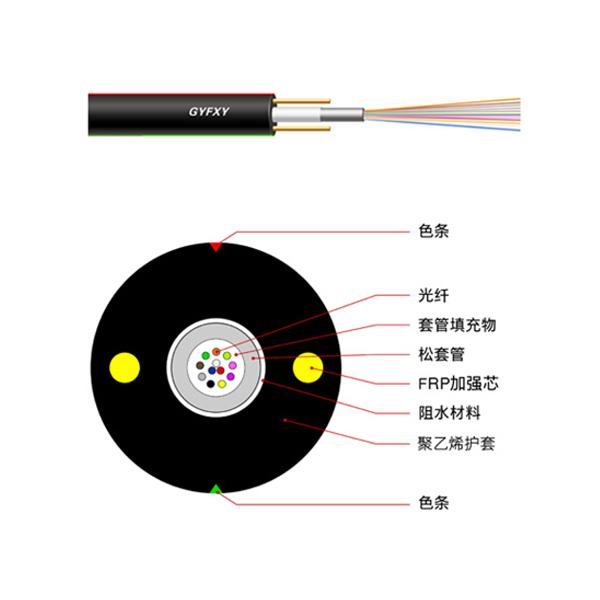 Central tubular non-metallic non-light armored cable
